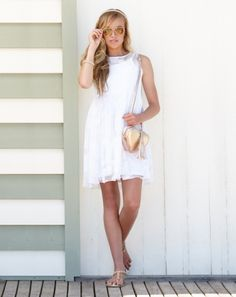 Terri Dress #pavementbrands #dress #party #fashion #girls #teen #tween #gumclothing #races #spring #white #pineapple #lace #white