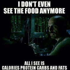 I don't see food anymore...