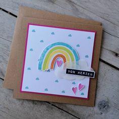 🎨💚Regenbogenkarte💚🎨 ***WERBUNG*** Ich liebe Wolken... und jetzt liebe ich auch noch Regenbogen! 🌈 Mit den Stempel von @creative.depot konnte ich so eine Süsse Karte basteln. Inspiriert von @stampcatwg  #margaswelt #karten #kartenbasteln #kartenfürjedenanlass #stempeln #stanzen #creativedepot #vonherzen #cards #bastelnistmeinyoga #scrapbooking #papeteria #papercraft #paperlove #foryou #odserca Creative Depot, Crafting, Instagram, Videos, Goodies, Die Cutting, Stamping, Card Crafts, Gifts