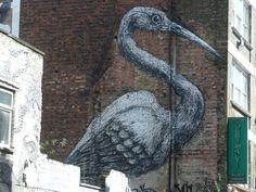 Painted onto the side of a house, off Brick Lane. Brick Lane, Merino Wool Blanket, London, House, Brick Road, Home, Homes, London England, Houses