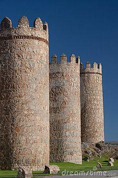 Walls of Avila, Castilla y Leon, Spain  Fascinating history here! My stays at the parador have built fond memories!