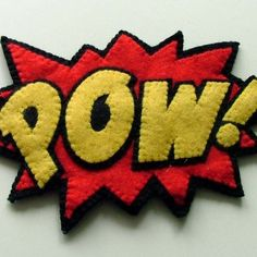 Pow! felt hairband. Great word for my new super hero book.