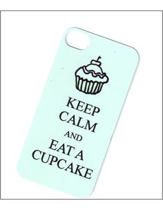 keep calm and eat a cupcake iphone 4 case tiffany by icasecouture, $15.00