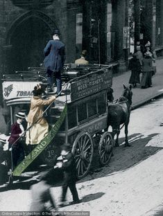 Birmingham, Horse Drawn Bus, New Street From The Francis Frith Collection, a privately-owned archive of over photographs of Britain from that you can browse online for free anytime. Vintage Photographs, Vintage Images, Old Pictures, Old Photos, Victorian Era Fashion, Birmingham City Centre, Birmingham England, Unique Cars, Horse Drawn