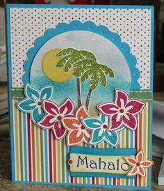 Image result for tropical cards craft