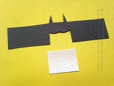 Cardboard Tube Batman by Amanda Formaro of Crafts by Amanda Yellow Paper, Black Paper, Superman Crafts, Cardboard Tube Crafts, Marble Magnets, Printed Magnets, Comic Book Superheroes, Decoupage Box, Batman Vs