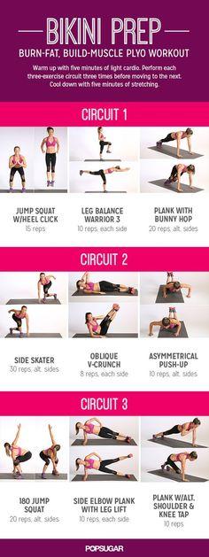 Bikini Prep: Burn-Fat, Build-Muscle Plyo Workout:
