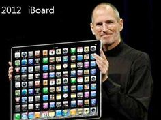 "Hahaha, people actually thought that Apple was going to discontinue the iPad and make and ""iBoard""."