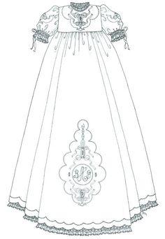 Girls Christening Gown from Martha Pullen's IEC2012    just love martha!