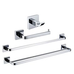 bathroom accessory set chrome brass contemporary - Square Bathroom Accessories Chrome