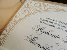 Letterpress wedding invitations - Vintage, lace, outdoors, rustic, pocketfold  - Paper goods by Le Petit Papier - www.lepetitpapierbymonica.com