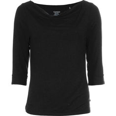 Toad & Co. Women's Wisper 3/4 Double Tee (79 NZD) ❤ liked on Polyvore featuring tops, t-shirts, black, 3/4 sleeve layering tee, three quarter sleeve tops, 3/4 sleeve tops, double layer top and 3/4 length sleeve tops