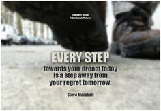 "https://flic.kr/p/r6vTGM | Steve Maraboli Every step towards your dream today is a step away from your regret tomorrow | Every step towards your dream today is a step away from your regret tomorrow. - Steve Maraboli  What steps are you taking towards your dream today? More <a href=""http://lovequotes.symphonyoflove.net/3sCUq"" rel=""nofollow"">quotes by Steve Maraboli</a>  More inspirational images on Dreams @ <a href=""http://om.symphonyoflove.net/#dreams"" rel=""nofollow"">OM</a>  <a…"