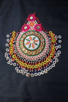 hand embroidered patch ideal for decorating garments and accessories the price is per unit patch) measures 27 cm high Coin Belt, Balochi Dress, Tribal Belly Dance, Jewelry Crafts, Textiles, Tapestry, India, Traditional, Etsy