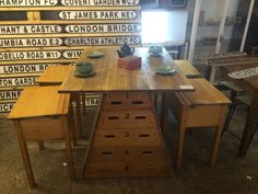 Upcycled Vintage School Wooden Pommel Vaulting Box Island Table Breakfast Bar