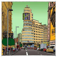 Illustrators, Times Square, Barcelona, Sketches, Watercolor, World, Wallpaper, Instagram, Places