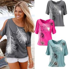 Wild And Free Peacock Feathered Tee