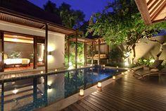 private pool at 3 bedrooms villa in Le Jardin luxury private pool villas in seminyak bali