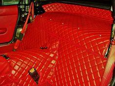 Tristan's 93 Miata • Miata Nakamae Style Diamond Quilted Interior.