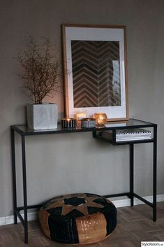 vittsjö from ikea Interior Design Software, Salon Interior Design, Home Interior, Ikea Laptop Table, Ikea Side Table, Ideas Recibidor, Room Inspiration, Interior Inspiration, Entryway Decor