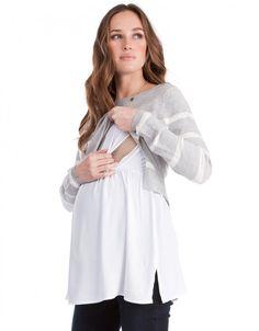 898ccf402aaf9 2 in 1 Striped Maternity & Nursing Jumper Post Baby Fashion, Mommy Fashion,  Nursing