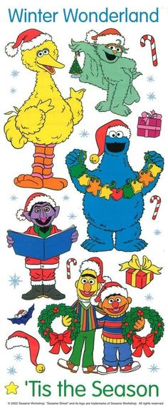 Colorbok Stickers Sesame Street TIS THE Season Winter Wonderland Christmas…