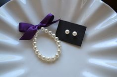 Little Girl Pearl  Bracelet and Earring set perfect by mmtncrfts, $15.25