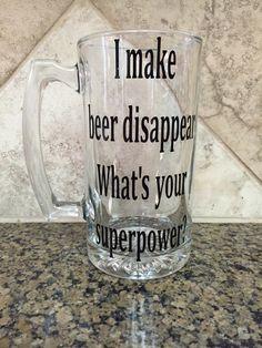 A personal favorite from my Etsy shop https://www.etsy.com/listing/246621441/beer-mug-beer-glass-custom-beer-mug