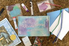 Kids Night In Box: Winter Wonderland - Sunshine and Munchkins Subscriptions For Kids, Subscription Boxes For Kids, Mod Podge Crafts, Glue Crafts, St Patrick Day Activities, Fun Activities, Easy Strawberry Pie, Applesauce Muffins, Relief Society Activities