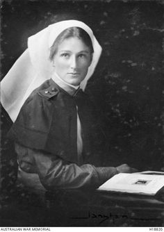 1917 Portrait of Staff Nurse C.E. Strom of the Australian Army Nursing Service, AIF. (Donor Mrs C.E. Bonwick who is the nurse in the photograph)