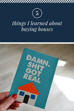 Buying a house is tough - here's a true story and 5 life lessons learned along the way.  #mortgage #house #realty #estates