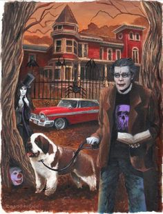 Stephen King Painting By Glenn Chadbourne Scary Movie Characters, Scary Movies, Arte Horror, Horror Art, Real Horror, Horror Show, Horror Films, Stanley Kubrick, Stephen King Movies