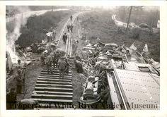 Freight train derailment near Woodinville WA 1950.