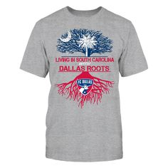 FC Dallas - Living Roots South Carolina T-Shirt, TIP: If you buy 2 or more (hint: make a gift for someone or team up) you'll save quite a lot on shipping.  Click the GREEN BUTTON, select your size and style.  The FC Dallas Collection, OFFICIAL MERCHANDISE  Available Products:          Gildan Unisex T-Shirt - $24.95 Gildan Women's T-Shirt - $26.95 District Women's Premium T-Shirt - $29.95 District Men's Premium T-Shirt - $28.95 Next Level Women's Premium Racerback Tank - $29.95 Gildan Unisex…