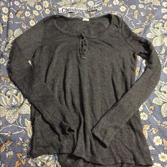 John galt grey long sleeve with buttons New no tags Brandy Melville Other