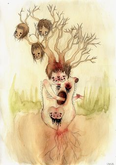 Helani Laisk Alien Girl, Pop Surrealism, Autumn Leaves, Illustrations, Fall, Autumn, Fall Leaves, Fall Season, Illustration
