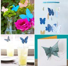 Paper butterflies- http://www.homemadesimple.com/en-US/Crafts/Pages/beautiful-paper-butterflies.aspx