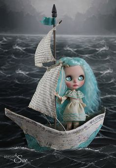 custom for the Once Upon a Blythe exhibit.   She will sail the seas until she finds the love she had once lost...