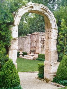 Stone arch to a secret garden