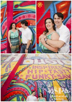 Collette and Brian's colorful, fun-filled engagement photos!  www.snaptacularphotos.com
