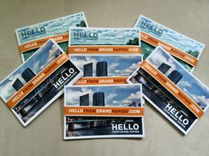 Getting married soon? Here's a few packs of our Hello From Grand Rapids postcards that a bride to be is planning to send out with her wedding invitations. If you'd like to add some to your invites, they're a fun way for you to show off Grand Rapids to your out of town guests. You can get packs for $14.99 at: http://hellofromgrandrapids.com/hello-from-grand-rapids---grand-rapids%2c-mi-postcards.html#buypostcards