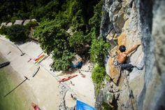 Rock climbing at the natural wonder