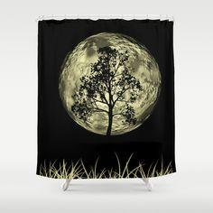 Black Tree Shower Curtain - Best Selection in Town! Tree Shower Curtains, Black Tree, Tapestry, Curtain Designs, Elegant, Artwork, Moon, Beautiful, Search