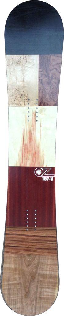 For sale! Patchwork wood veneer snowboard www.ozsnowboards.com #snowboarding