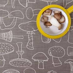 Tea Towel - Mushroom, in Loam (loam is a great and under referenced color)