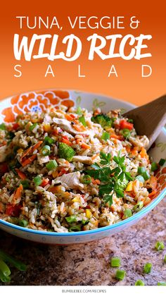 TUNA, VEGGIE, AND WILD RICE SALAD: Get your family to eat their veggies with this wholesome recipe using our Solid White Albacore tuna!