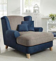 Eine echte Augenweide ist der moderne Home affaire Big-Sessel »Calia«. Geschmackvoll setzt er im Wohnzimmer gemütliche Akzente und lädt zum Verweilen ein. Die großzügige Sitzfläche ist außerordentlich bequem.