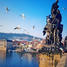 Charles Bridge (Karlův most). A beautiful stone Gothic bridge that crosses Vltava river connecting the Old Town and Lesser Town decorated by baroque statues along either side. Since it is on top of every Prague visitor's travel guide tourists flock to this bridge day and night and so do birds knowing that they will be well-fed here. If you want to have the bridge all to yourself to enjoy something as quiet and romantic as advertised you have to be there at night or very early in the…