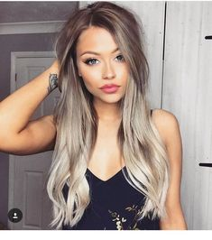 37 natural blonde balayage hair color trends you must try nowadays 32 - VICFISH. Ombre Hair, Balayage Hair, Platinum Blonde Balayage, Pelo Popular, Hair Color And Cut, Hair Colour, Holiday Hairstyles, Hair Day, Gorgeous Hair