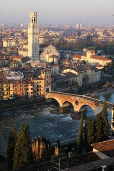 The stunning Verona, Italy. I can see why Romeo and Juliet fell in love there. ;)